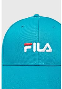 Niebieska czapka z daszkiem Fila