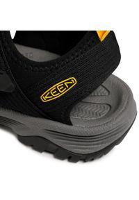 Czarne sandały trekkingowe keen z otwartym noskiem