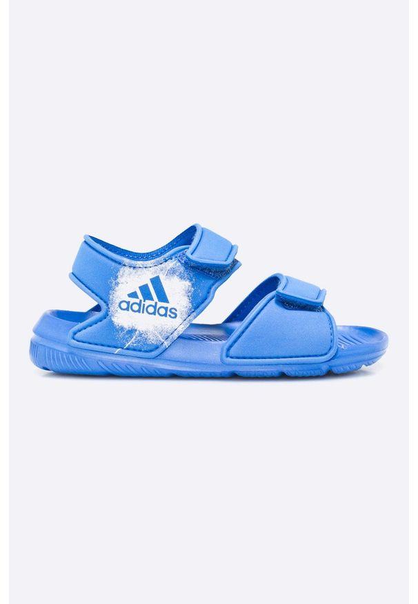 Niebieskie sandały adidas Performance na rzepy