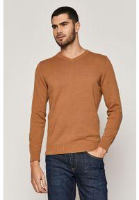 Beżowy sweter medicine casualowy, długi