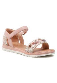 Różowe sandały Nelli Blu z aplikacjami, na lato