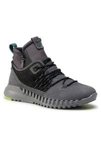 ecco - Sneakersy ECCO - Zipflex M 80372402602 Dark Shadow. Okazja: na co dzień. Kolor: szary. Materiał: skóra, materiał, zamsz. Szerokość cholewki: normalna. Styl: casual