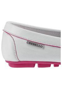 CheBello - Mokasyny CHEBELLO 2249_-321-000-PSK-S42 Biały. Zapięcie: bez zapięcia. Kolor: biały. Materiał: skóra. Szerokość cholewki: normalna. Styl: elegancki