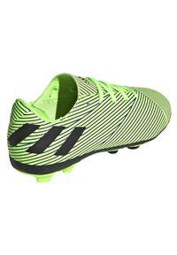 Adidas - Buty piłkarskie korki dla dzieci adidas Nemeziz 19.4 FG FV4011. Materiał: materiał, syntetyk. Szerokość cholewki: normalna. Sport: piłka nożna