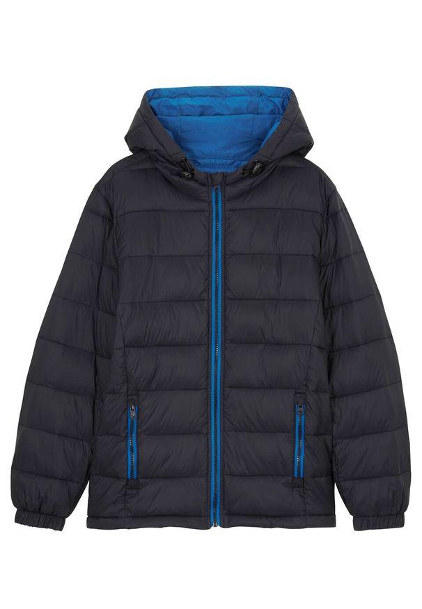 Czarna kurtka bonprix z kapturem, na zimę