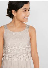 Sukienka dziewczęca na uroczyste okazje bonprix biel wełny. Kolor: biały. Materiał: wełna #3