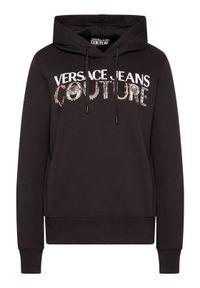 Versace Jeans Couture Bluza 71HAIF04 Czarny Regular Fit. Typ kołnierza: kołnierzyk włoski. Kolor: czarny