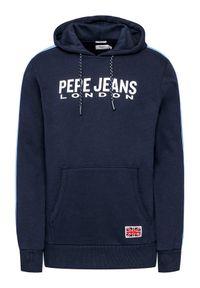 Pepe Jeans Bluza Andre PM582003 Granatowy Regular Fit. Kolor: niebieski