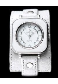 NoName - Zegarek Zegarek Damski Timento Podkładka Biały (4891). Kolor: biały