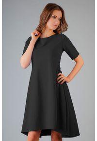 Czarna sukienka rozkloszowana Tessita elegancka
