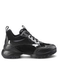 Carinii - Sneakersy CARINII B7411_-E50-H20-000-000 Czarny. Kolor: czarny. Materiał: jeans, zamsz, skóra. Szerokość cholewki: normalna. Obcas: na platformie