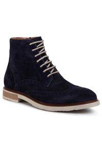 Niebieskie buty zimowe Gino Rossi
