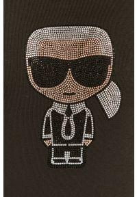 Czarna bluza Karl Lagerfeld długa, z długim rękawem
