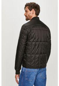 Czarna kurtka Calvin Klein Jeans bez kaptura, gładkie, casualowa, na co dzień