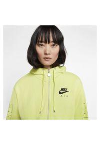 Bluza damska Nike Air CJ3041. Materiał: tkanina. Długość rękawa: raglanowy rękaw. Długość: krótkie #4