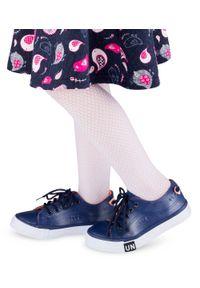UNDERLINE - Trampki dziecięce Underline T-2-1013 Granatowe. Zapięcie: sznurówki. Kolor: niebieski. Materiał: tkanina, tworzywo sztuczne