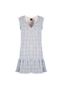 """Pinko Sukienka """"Zabaione"""". Okazja: na co dzień. Materiał: tkanina. Długość rękawa: bez rękawów. Typ sukienki: proste. Styl: casual. Długość: mini"""
