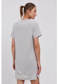Calvin Klein Underwear - Koszula nocna. Kolor: szary. Materiał: dzianina. Długość: krótkie