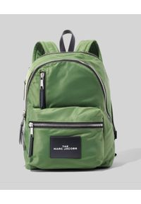 THE MARC JACOBS - Zielony plecak The Zipper Backpack. Kolor: zielony. Wzór: aplikacja