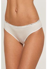 Białe majtki Emporio Armani z nadrukiem