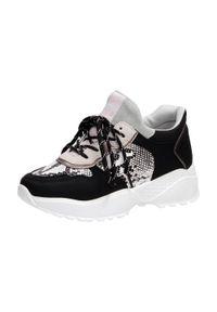 Czarne sportowe buty damskie McKeylor 18206. Kolor: czarny. Materiał: tkanina. Obcas: na obcasie. Wysokość obcasa: średni