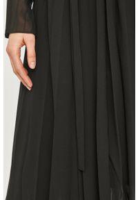 Samsoe & Samsoe - Samsoe Samsoe - Sukienka. Kolor: czarny. Materiał: tkanina. Długość rękawa: długi rękaw. Wzór: gładki. Typ sukienki: plisowane #3