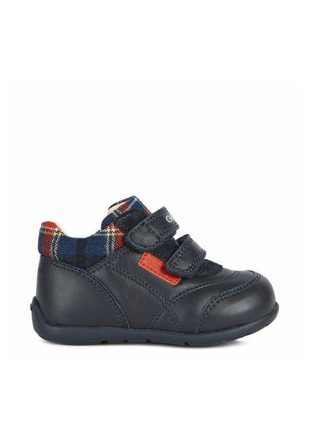 Niebieskie buty sportowe Geox na rzepy