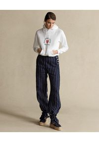 Ralph Lauren - RALPH LAUREN - Biała bluza z kapturem. Okazja: na co dzień. Typ kołnierza: kaptur. Kolor: biały. Materiał: jeans, bawełna. Wzór: napisy, nadruk. Sezon: wiosna. Styl: casual, klasyczny #5