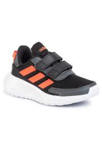 Czarne półbuty Adidas z cholewką, na spacer, na rzepy