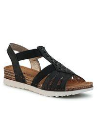 Czarne sandały Inblu z aplikacjami