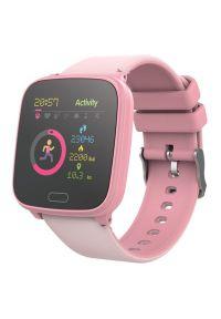 Różowy zegarek FOREVER smartwatch, młodzieżowy