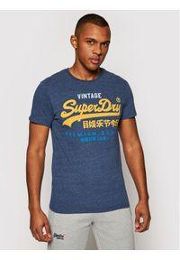 Superdry T-Shirt Vl Tri Tee 220 M1011003A Granatowy Reglar Fit. Kolor: niebieski