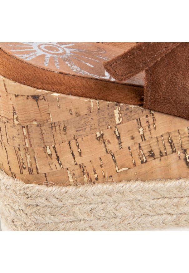 Brązowe sandały Marco Tozzi casualowe, na co dzień