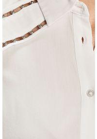 Biała koszula Guess długa, na co dzień