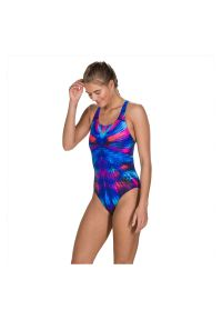 Strój dla kobiet do pływania Speedo Mirage Shine Powerback 806187. Materiał: materiał. Długość: długie. Wzór: gładki, nadruk