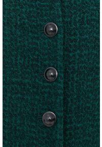 Sisley - Płaszcz. Okazja: na co dzień. Kolor: zielony. Styl: casual