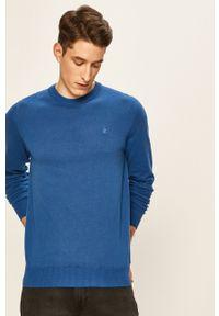 Niebieski sweter Izod na co dzień, casualowy