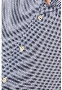 Baldessarini - Koszula. Typ kołnierza: kołnierzyk włoski. Kolor: niebieski. Materiał: tkanina