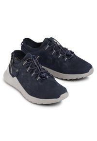 Niebieskie buty trekkingowe keen trekkingowe, z cholewką