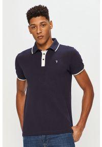 Niebieska koszulka polo Trussardi Jeans krótka, polo, na co dzień