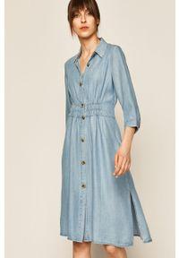 Niebieska sukienka medicine boho, mini, na co dzień