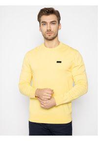 Żółty sweter klasyczny Hugo