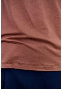 Marie Zélie - Golf Frida cynamonowa – mikromodal. Typ kołnierza: golf. Kolor: brązowy. Materiał: bawełna, dzianina, materiał, elastan, tkanina, włókno