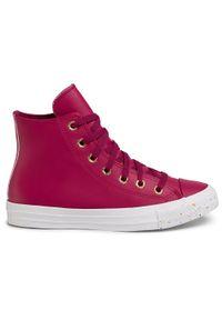 Fioletowe buty sportowe Converse z cholewką, na co dzień