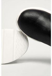 Czarne buty sportowe ANSWEAR z okrągłym noskiem, z cholewką
