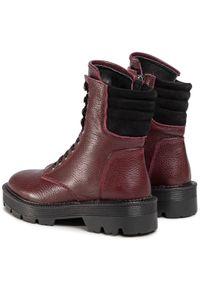 Czerwone buty trekkingowe QUAZI z cholewką