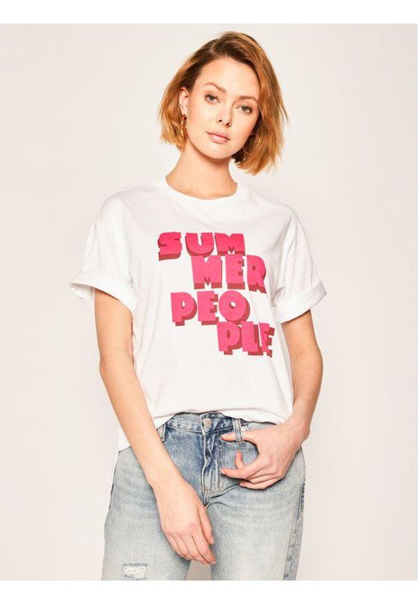 iBlues T-Shirt Aiello 79711002 Regular Fit. Kolor: biały