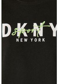 DKNY - Dkny - Bluza. Okazja: na co dzień. Kolor: czarny. Długość rękawa: długi rękaw. Długość: długie. Wzór: nadruk. Styl: casual