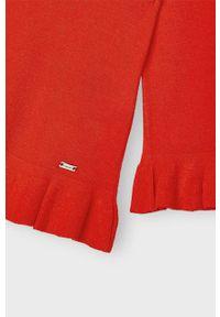Czerwony sweter Mayoral gładki, na co dzień