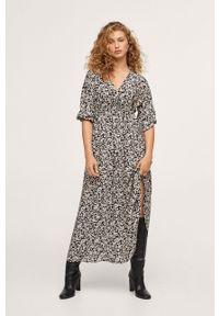 mango - Mango - Sukienka Tangerin. Okazja: na co dzień. Kolor: czarny. Materiał: dzianina. Typ sukienki: proste. Styl: casual